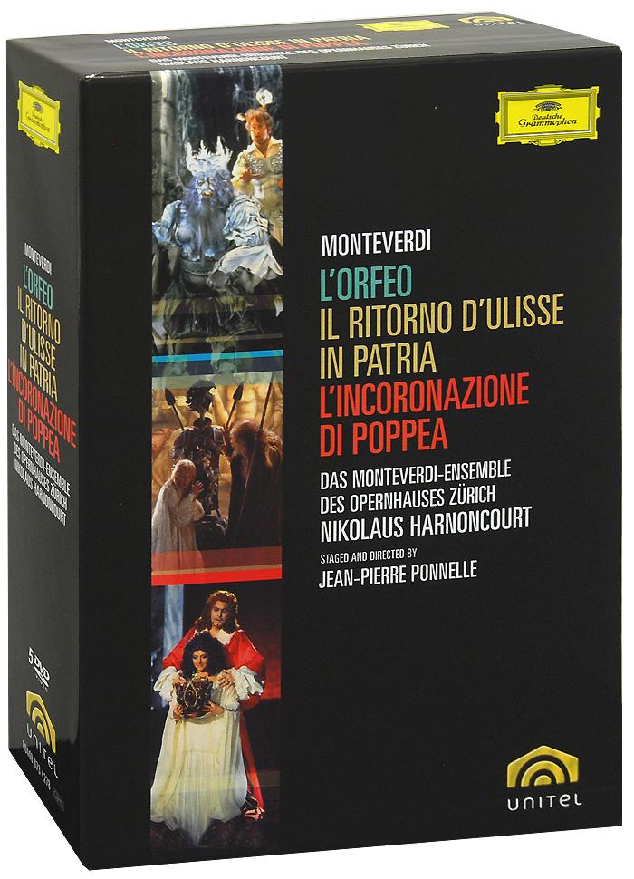Monteverdi, Nikolaus Harnoncourt: LOrfeo / Il Ritorno dUlisse In Patria Lincoronazione Di Poppea (5 DVD)