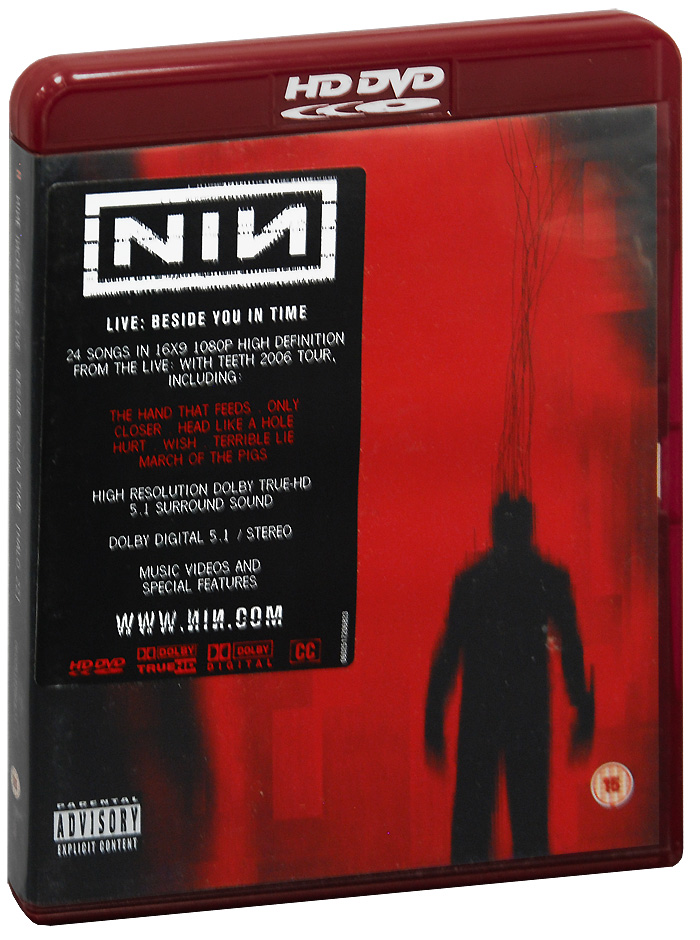 Nine Inch Nails Live: Beside You In Time (HD-DVD) nine inch nails nine inch nails y34rz3r0r3m1x3d cd dvd
