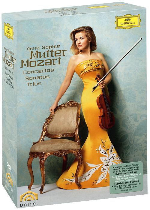 Mozart, Anne-Sophie Mutter: Violin Concertos, Sonatas, And Trios (5 DVD) various sibelius goldmark violin concertos