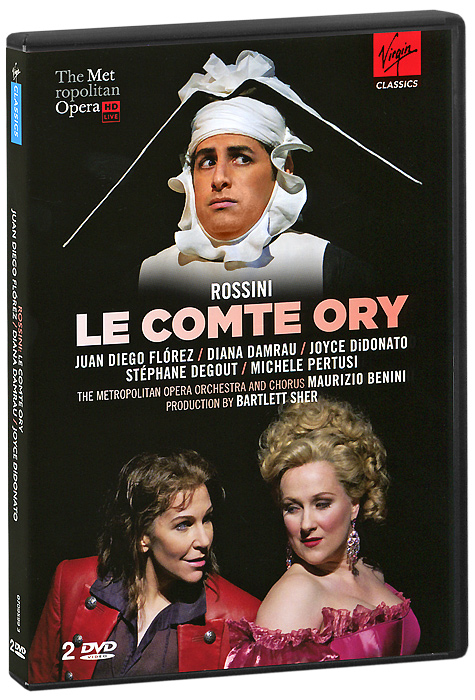 In spring 2011, the first-ever performances at New York's Metropolitan Opera of Rossini's Le Comte Ory brought standing ovations and critical-acclaim. The spectacular trio of Juan Diego Florez, Diana Damrau and Joyce DiDonato ignited vocal and theatrical fireworks.   Le Comte Ory tells the story of a libidinous and cunning nobleman who disguises himself first as a hermit and then as a nun (