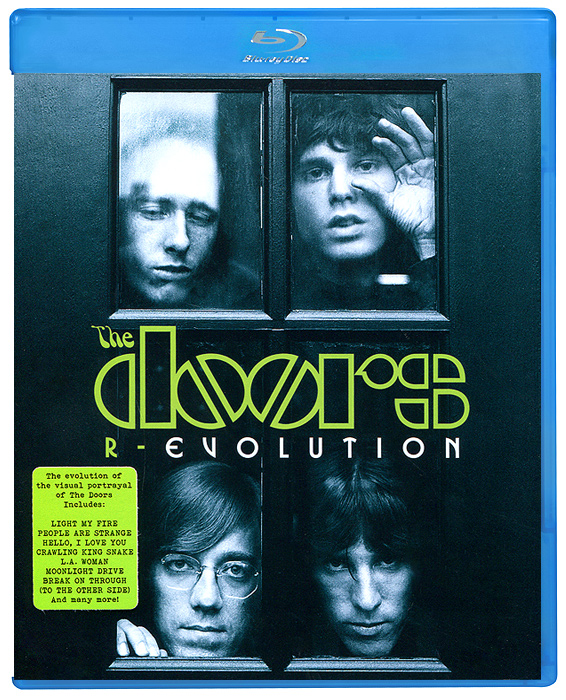 R-Evolution brings together a wealth of rare footage of The Doors. Combining early TV appearances with their own music films, R-Evolution illustrates how The Doors evolved from the соnstraints of late sixties television to a point where they had the creative input and power to shape how they were portrayed on screen. Throughout, the unique charisma and talent of The Doors comes across whether it is on a lightweight pop show or in a film created from their own imaginations, as they perform some of the most influential music ever made. 01. Break On Through (To The Other Side) - Music Film - January 196702. Break On Through (To The Other Side) - From Shebang - March 5, 196703. The Crystal Ship - From American Bandstand - July 22, 196704. Light My Fire - From American Bandstand - July 22, 196705. Light My Fire - From Malibu U - August 25, 196706. People Are Strange - From Murray The K In New York - September 22, 196707. Moonlight Drive - From The Jonathan Winters Show - December 27, 196708. The Unknown Soldier - Music Film - February 196809. Hello, I Love You - From Musik Fur Junge Leute: 4-3-2-1 Hot & Sweet - September 13, 196810. Touch Me - From The Smothers Brothers Comedy Hour - December 15, 196811. Wild Child - Music Film - July 196912. Roadhouse Blues - Music Film - February 197013. Crawling King Snake - From GTK (Get To Know) - December 197014. The Changeling - Music Film - April 197115. Gloria - Music Film - October 198316. People Are Strange - Music Film - 1980's17. Strange Days - Music Film - 198418. L.A. Woman - Music Film - 198519. Ghost Song - Music Film - 1995