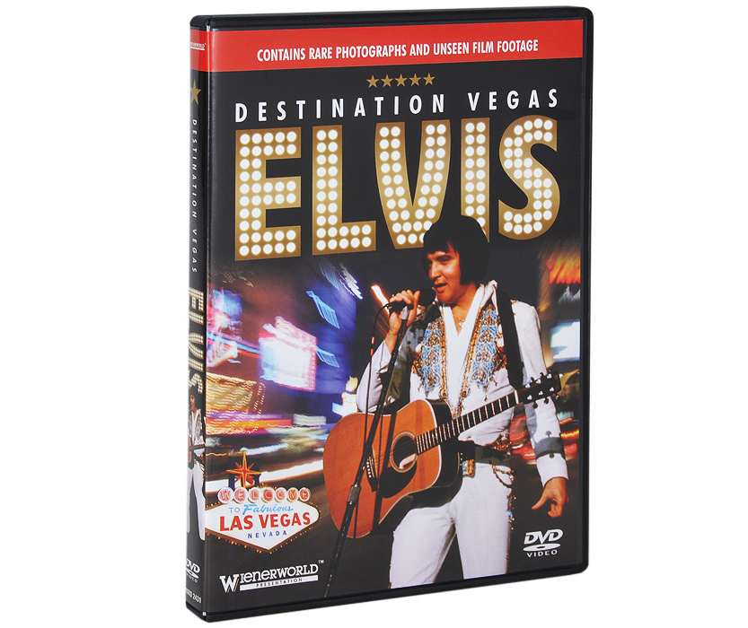 Many programmes have told the story of the early life of Elvis Presley, his army career and his death, hut Destination Vegas is the first and definitive documentary to give an insight into Elvis's residency in Vegas, a town that was to become synonymous with him.This unauthorised programme uses previously unseen footage and photographs of Elvis, as well as classic original songs, to tell the story of the Vegas years of the King of Rock 'n' Roll.The DVD also features previously unavailable private footage to explore a controversial chapter in the King's life, which not only stifled him, but also defined him as the eternal superstar that he would forever be known.