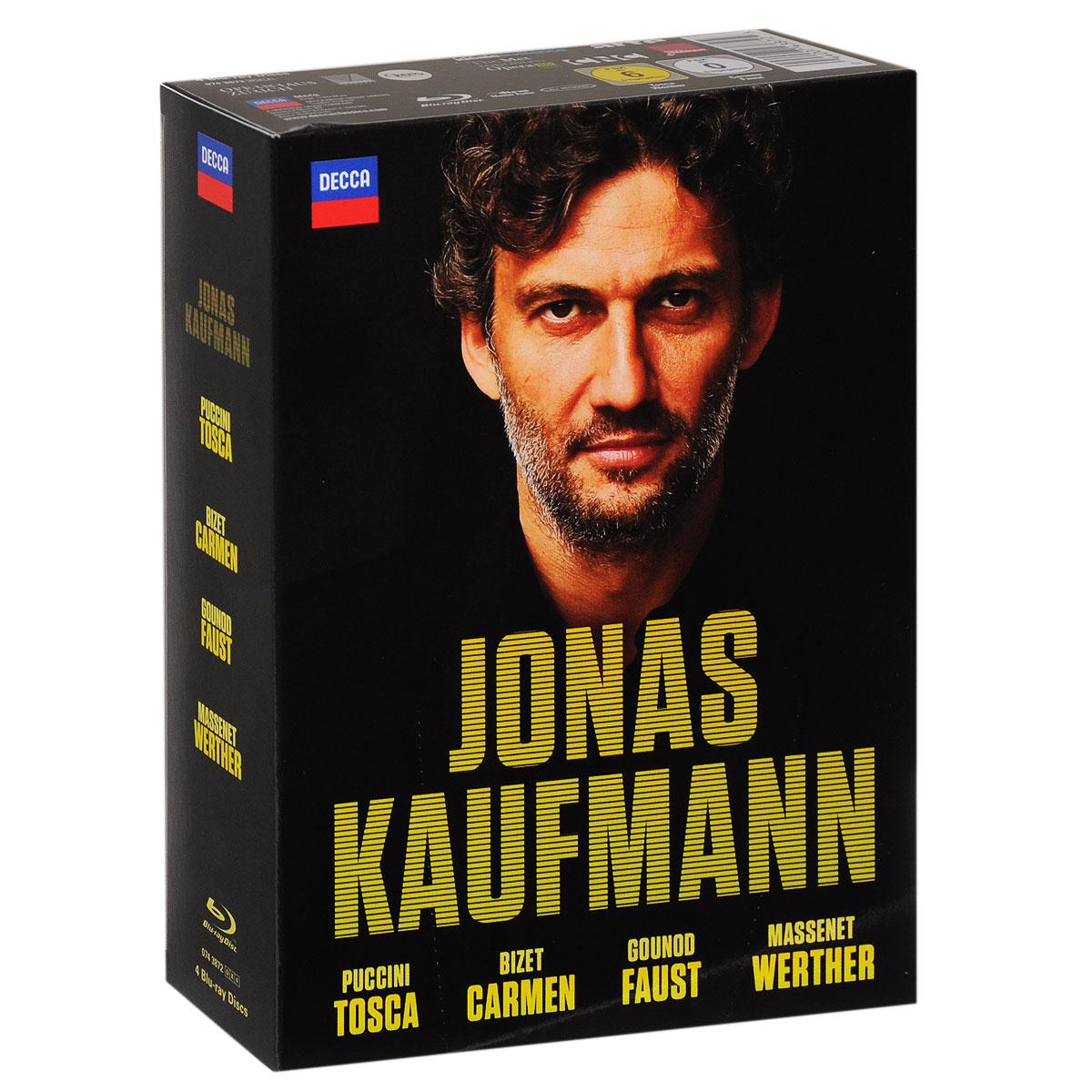 Jonas Kaufmann: Bizet: Carmen / Puccini: Tosca Gounod: Faust Massenet: Werther (4 Blu-ray)