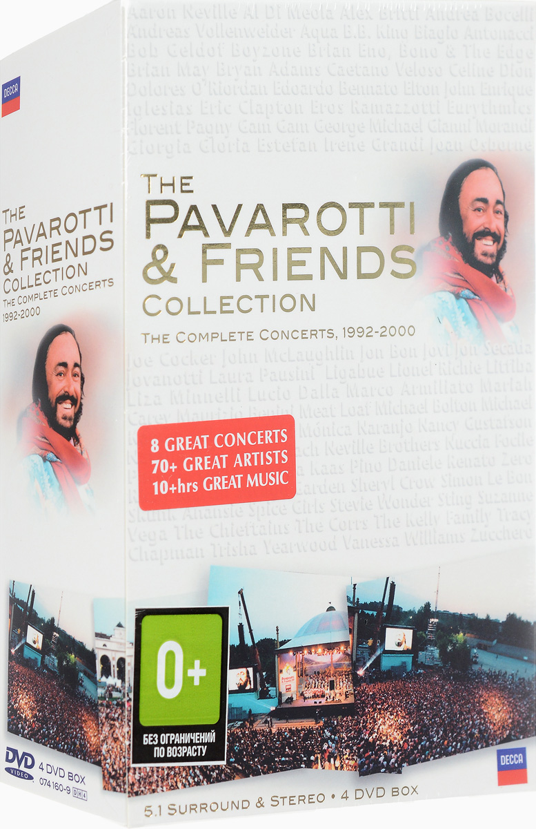 the pavarotti The Pavarotti & Friends Collection: The Complete Concerts, 1992-2000 (4 DVD)