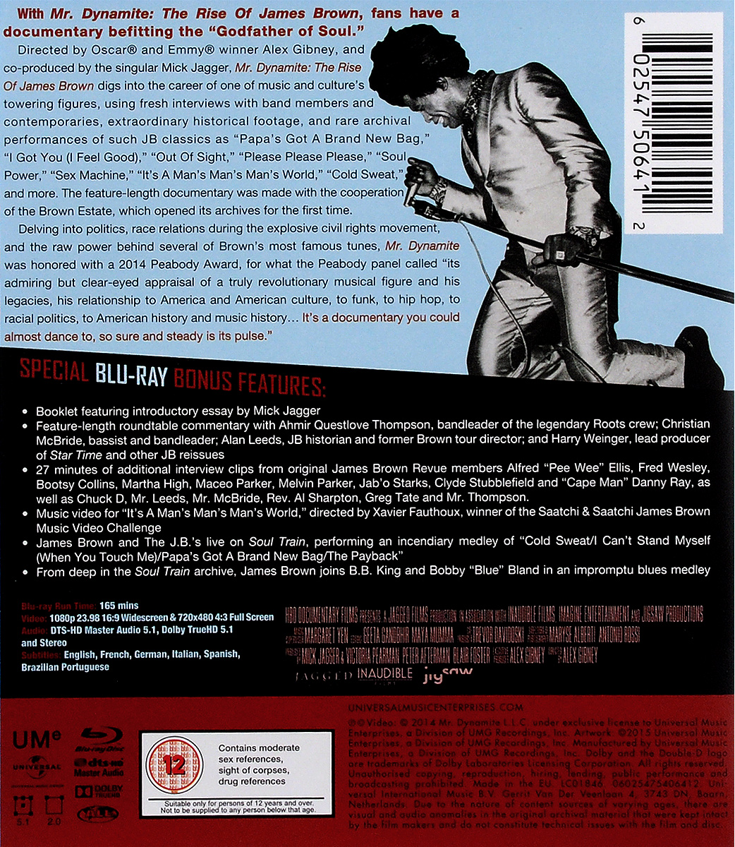 Mr.  Dynamite:  The Rise Of James Brown (Blu-ray) HBO Documentary Films