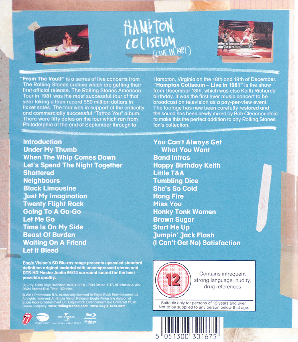 The Rolling Stones:  From The Vault Hampton Coliseum (Live In 1981) (Blu-ray) Promotone B.V.
